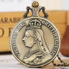 Retro bronz Victoria Britt:Reg:F:D: para kuvars cep saati Vintage kolye kolye zinciri antika el sanatları sanat koleksiyon
