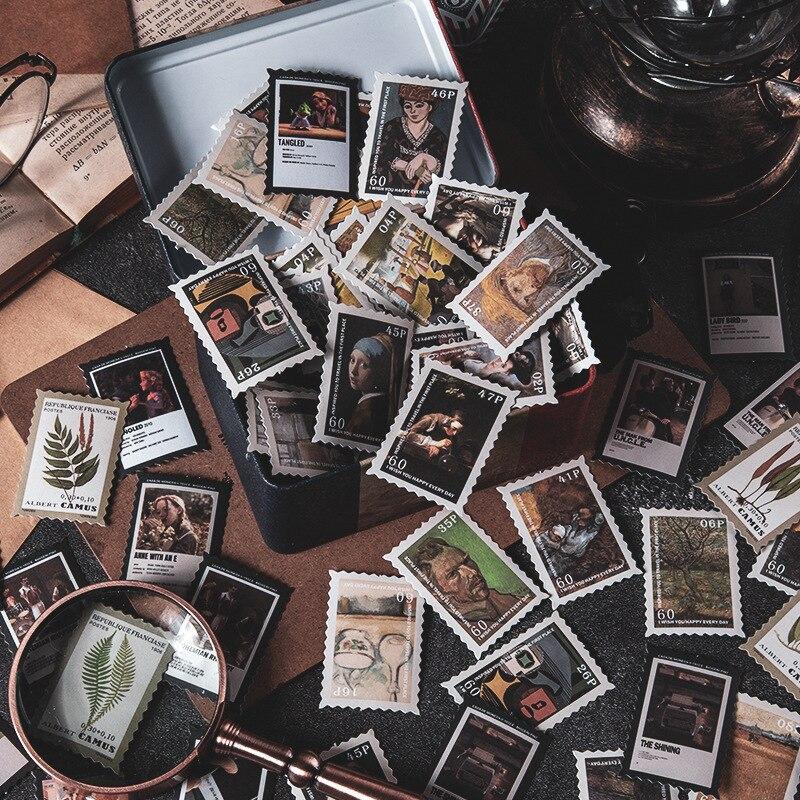 100 шт. винтажные почтовые штампы с изображением цветов растений, декоративные наклейки для скрапбукинга, конвертов, журнала, дневника, плани...