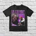 Винтажная черная футболка унисекс Lil Uzi 90