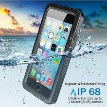 Real waterpoof caso para iphone 11 pro max x xs 5 5S se 2020 6s 7 8 plus proteção completa à prova de choque transparente capa natação