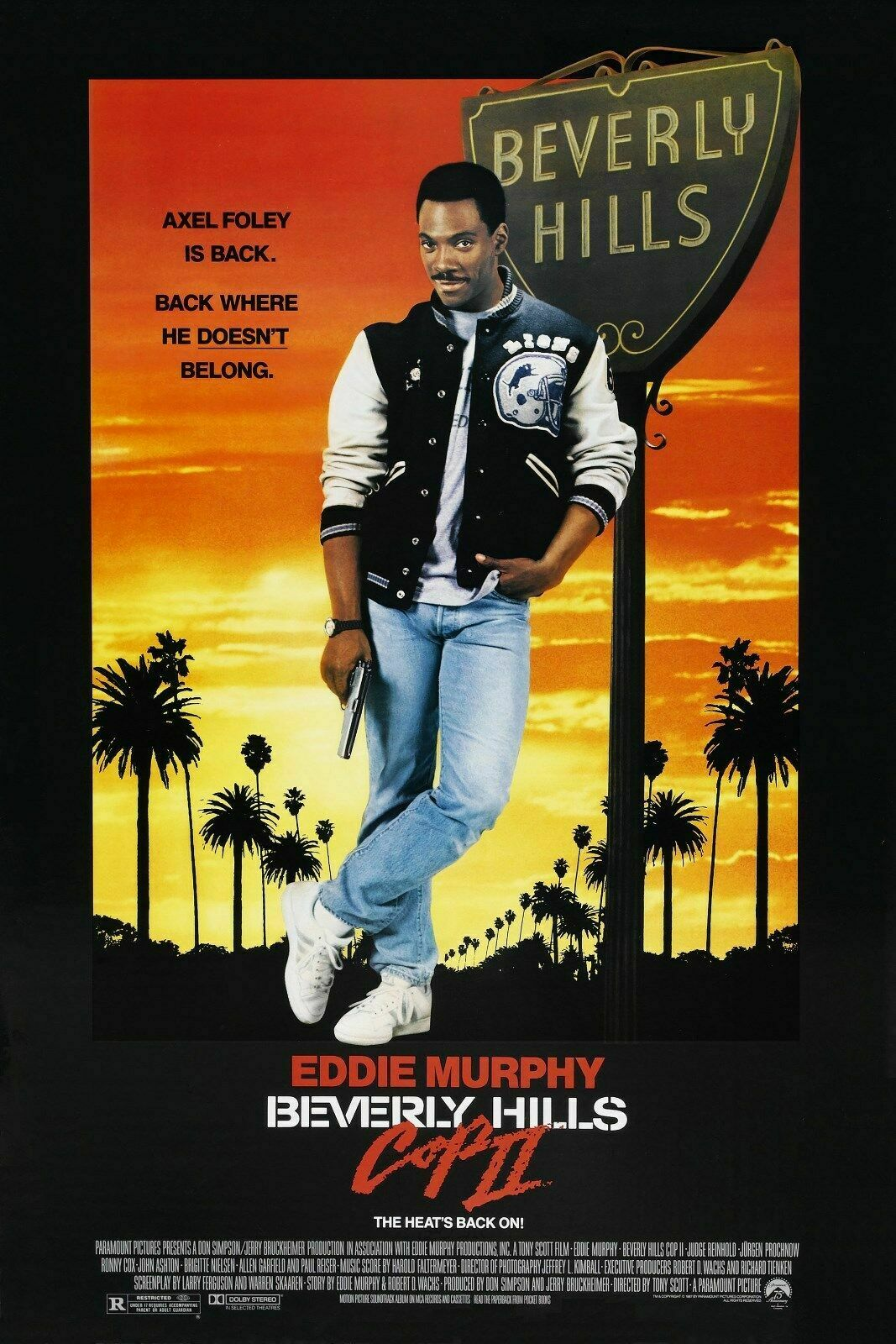 BEVERLY HILLS COP II Movie Art Film Print Silk Poster Home Wall Decor 24x36inch image