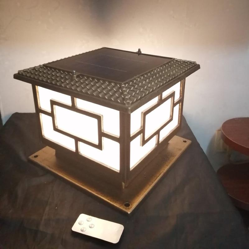 jardim pilar lâmpada luz com iluminação dupla