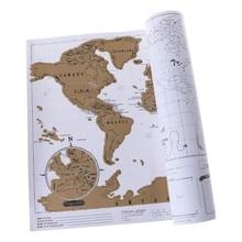 Luxo scratch fora do diário mapa do mundo personalizado viagens atlas poster novidade dropshipping