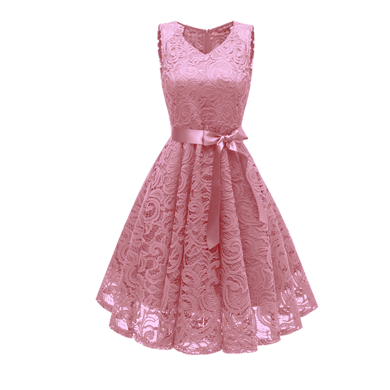 Neue sumer kleid frau Kleid Neue Ankunft Spitze V-ausschnitt Abendkleider Sexy formales kleid Bogen party kleider