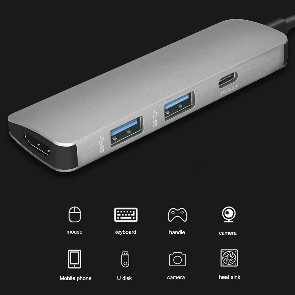 Image 2 - Usb c ハブ USB C hdmi 4 18k ハブ usb 3.0 アダプタ pd/マイクロの usb 充電ポート  macbook プロサムスンギャラクシー S8 タイプ c ハブ -    グループ上の パソコン