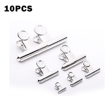 10p Powerful Metal Clip Stationery Office Supplies Household Folder Fixing Small Book Clip Extra Large Sketch Board Drawing Clip