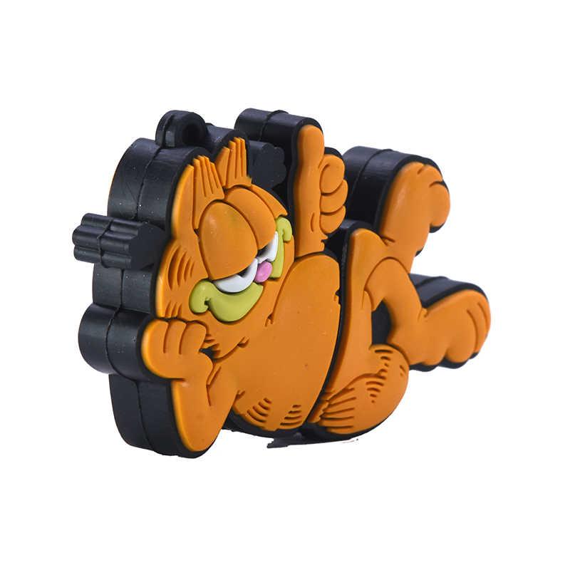 Keren USB Flash Drive 64GB 128GB 256GB Garfield Pena Drive 32GB 16GB 4GB 8GB GB Anime Kucing Flashdisk Hewan Memori Stik Hadiah Lucu