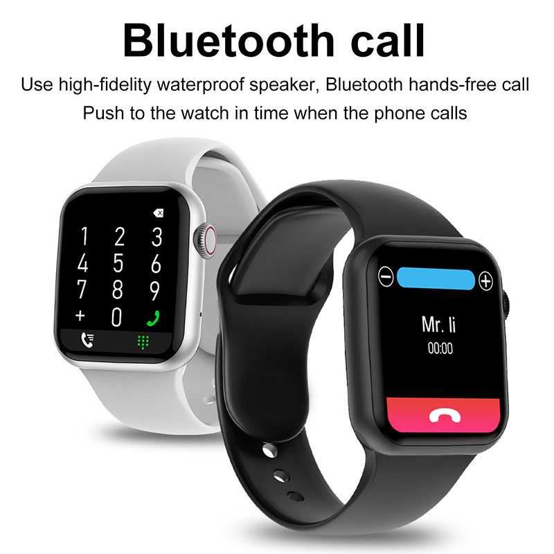 Bluetooth Call Smart Watch Men 1.75 Inch HD Full Screen Dynamic Dial IWO 13 Pro DT100 Smartwatch For Apple Watch Supports Phone 2