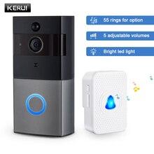 KERUI Wireless Door Bell Intercom Video Doorbell 1080P Security Camera Two-Way Audio Memory Card Smart Wifi