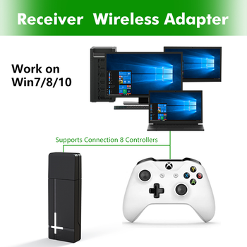 2.4G Wireless Adapter Receiver for XBOX One Controller Portable Receiver Transmitter for PC WIN 7/8/10 2
