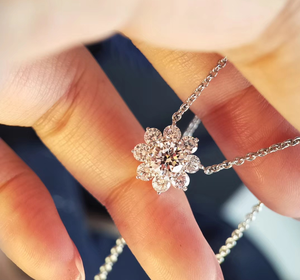 Image 5 - ZN S925 Sterling Silver Material Exquisite luxury full  fire flower necklace European American fashion necklace for women