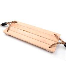 Классическое деревянное кресло качели с прочной поворотной веревкой