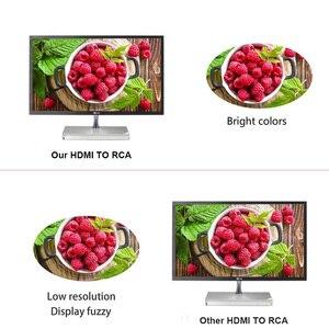 Image 3 - Adaptador compuesto Mini HDMI a RCA AV de 1080P, convertidor de Cable de Audio y vídeo, convertidor de adaptador AV CVBS para TV HD con Cable USB