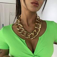 Массивное модное толстое ожерелье на цепочке для женщин массивное