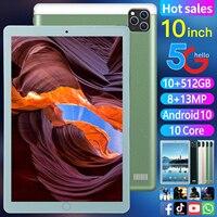 Tableta ultrafina ZH960 de 10 pulgadas, almohadilla para llamadas de teléfono, PC, Android 10, 10GB + 512GB, + 13MP 8MP, inalámbrica, Bluetooth, Larga modo de reposo facial, GPS