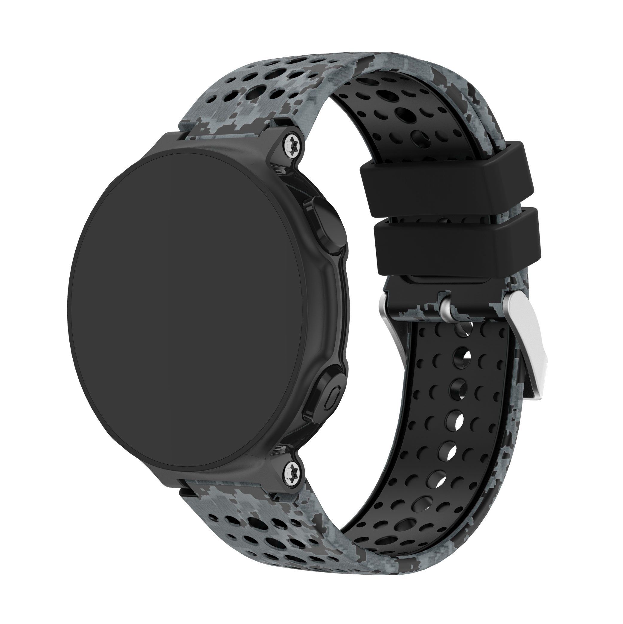 Yayuu Printed Silicone Watch Band For Garmin Forerunner 220/230/235/620/630/735XT Bracelet Replacement Wrist Strap   Buckle band-in Smart Accessories from Consumer Electronics