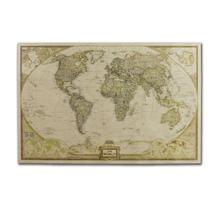 Vintage World Map Kraft Paper Poster Wall Decoration for Living Room Coffee Shop moon pattern bar coffee living room kraft paper decoration poster