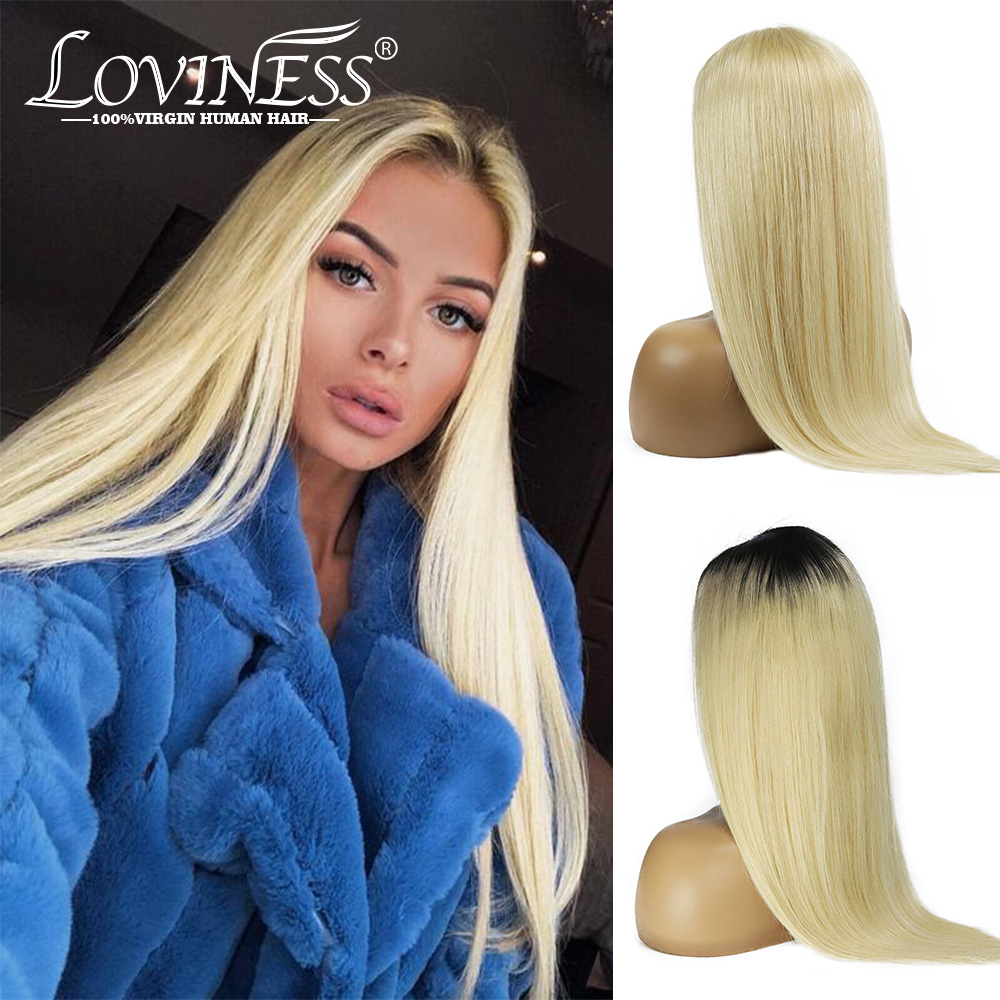 613 Honey Blonde Ombre Pre Plucked 4*4 Closure Lace U Part Wig Front Human Hair Short Bob Cheap Wig Remy Straight Glueless Hair