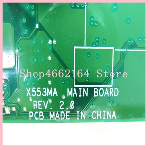 Image 5 - X553MA_MB_N2830CPU Laptop motherboard REV2.0 For ASUS A553M X503M F503M X553MA X503M X553M F553M Notebook mainboard fully tested