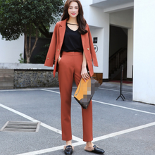 2020 New Arrival Pants Suits Women Blazer 2 Two Piece Set Solid Jacket & Pant Blazers Femme Mujer Plus Size AQ145(China)