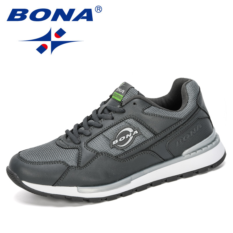 BONA 2020 New Designers Popular Style Sneakers Men Outdoor Wearable Casual Shoes Man Microfiber Leisure Footwear Male Trendy