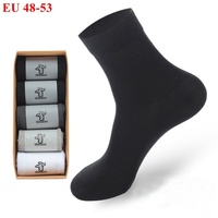 6 Pairs Large Size big EU 48 49 50 51 52 53 Comfortable Crew Socks Men's winter Breathable Cotton Socks Comfortable black white