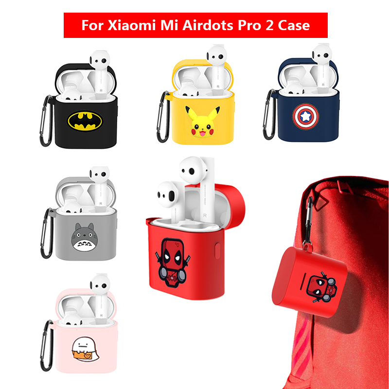 Cool Cartoon Case For Xiaomi Mi Airdots Pro 2 Case Cover For Air 2 TWS Wireless Bluetooth Earphone Protection Sleeve
