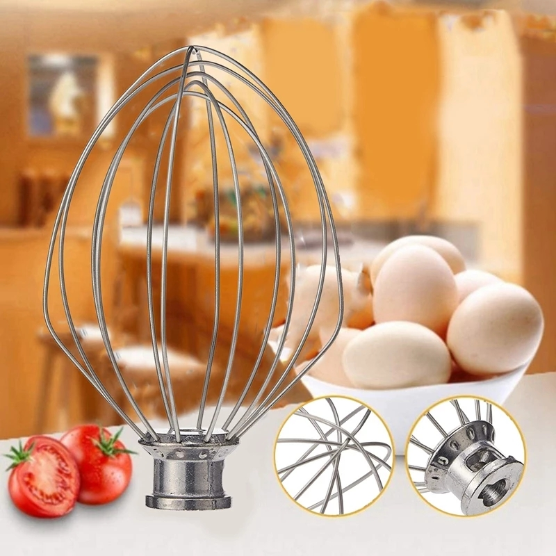 Electric Mixer Accessories Kn256ww 6-Wire Whip For 5 / 6 Quart Stainless Steel Mixing Head Eggbeater Eggball Kitchen Tools