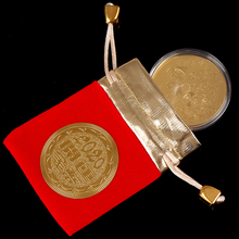 Хорошая удача везучий подарок украшение Мышь Крыса памятная монета подарок на Год крыса коллекция монет позолоченные