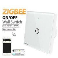 AC110-220V ZigBee 3 0 smart licht panel schalter controller Drahtlose wand Fernbedienung arbeit mit APP telefon amazon echo plus gateway