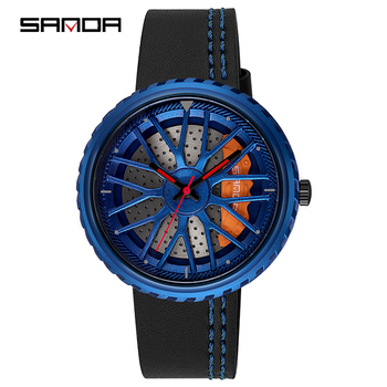 цены SANDA Luxury Brand Men Business Watches 1pcs Retro Design Leather Band Analog Alloy Quartz Wrist Watch montre homme 2020