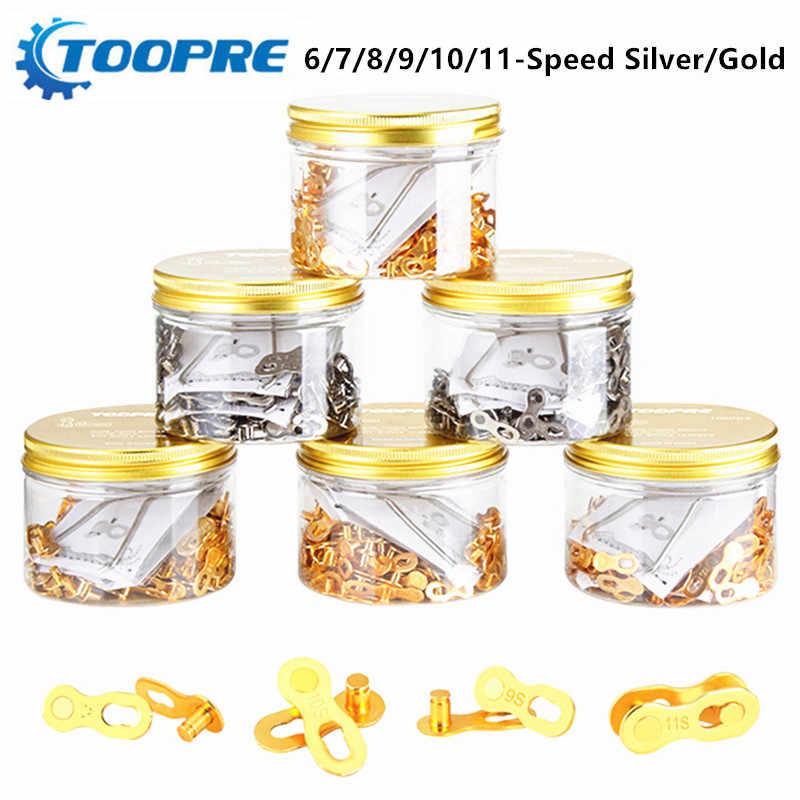 Mountain road bike kette magie schnalle 8/9/10/11/24/27/30 geschwindigkeit gold/silber kette quick release schnalle mit werkzeuge