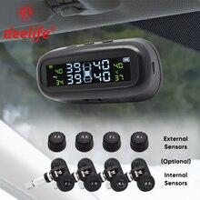 Deelife TPMS güneş lastik basıncı sensörü izleme sistemi lastik dış iç sensörler araba TPMS