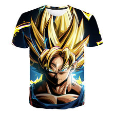 Camisetas de Super Dragon-Ball, Goku, Vegeta, ropa para niños, disfraz de Anime japonés, ropa para niños, camisetas de Gohan Beerus