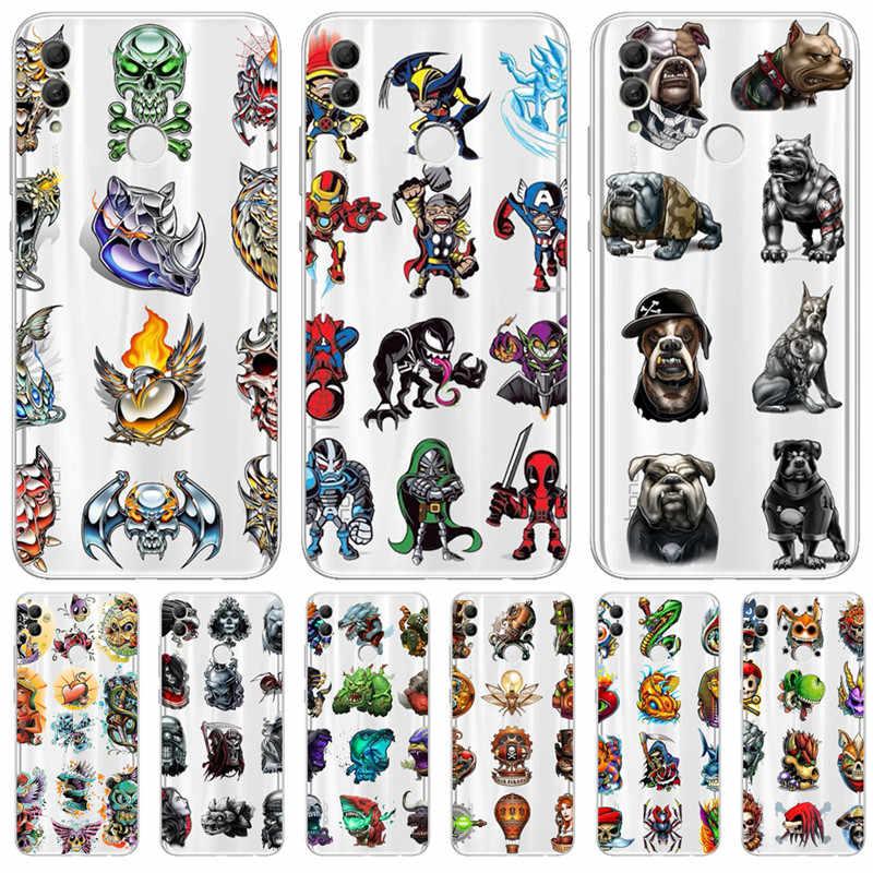 Животное marvel для huawei Honor 10 9 8 8X 8C 7A 7C 7X7 6X 6A 20 Pro V20 20i Lite чехол телефона Funda Coque Etui Капа