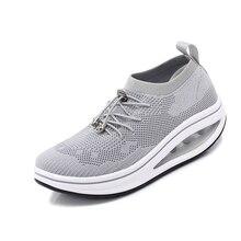 Женская Тонизирующая обувь; Дышащие носки; спортивные кроссовки для фитнеса, визуально увеличивающие рост; женские уличные кроссовки для похудения; кроссовки