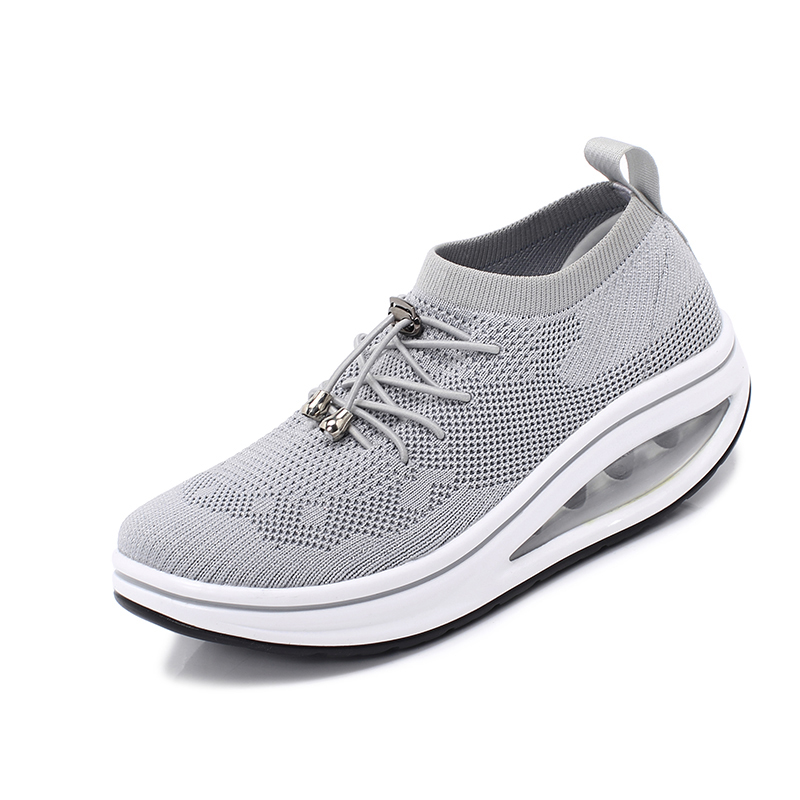 Women Toning Shoes Breathable Sock Sport Height Increasing Fitness Sneakers Ladies Outdoor Women Slimming Sneakers Trainer