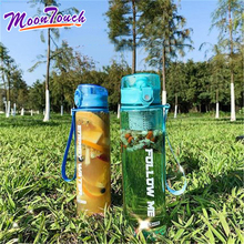 Sports water bottle portable large capacity 1000 ml plastic summer outdoor sports fitness students with a cup of men and women