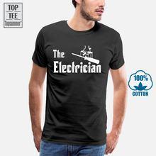 Новинка 2019 модная мужская футболка электрика летняя с изображением