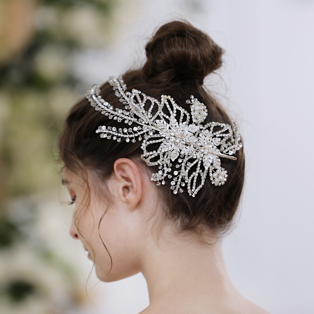 HP254 Chinese Wedding Hair Accessories for Women Bridal Head Jewelry Headwear Dress for Wedding Party Headdresses Hair Clips