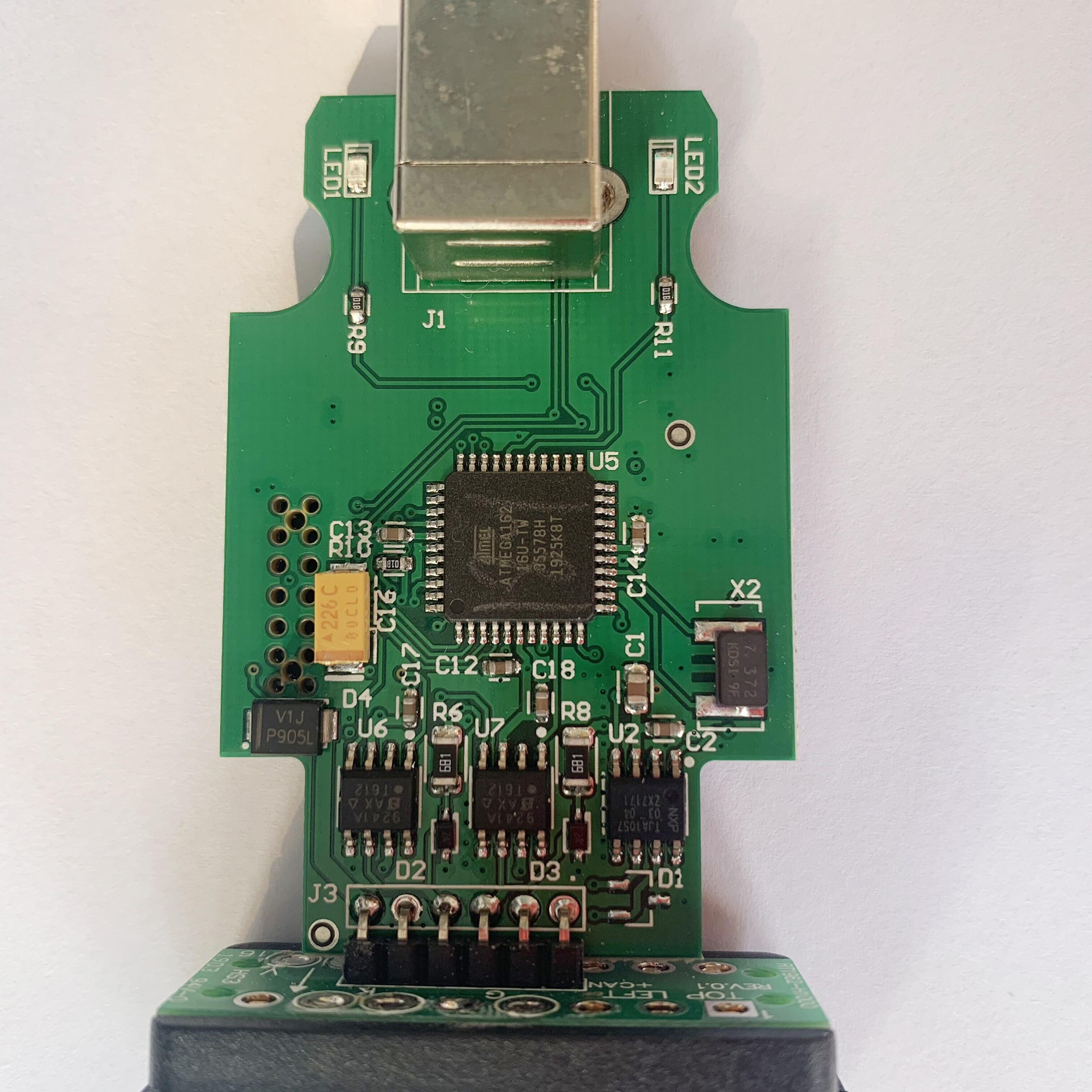 Kabel USB OBD2 Scanner 19.6.2 Code Reader ATMEGA162 + 16V8 + FT232R Multi-Sprachen 19.6.1