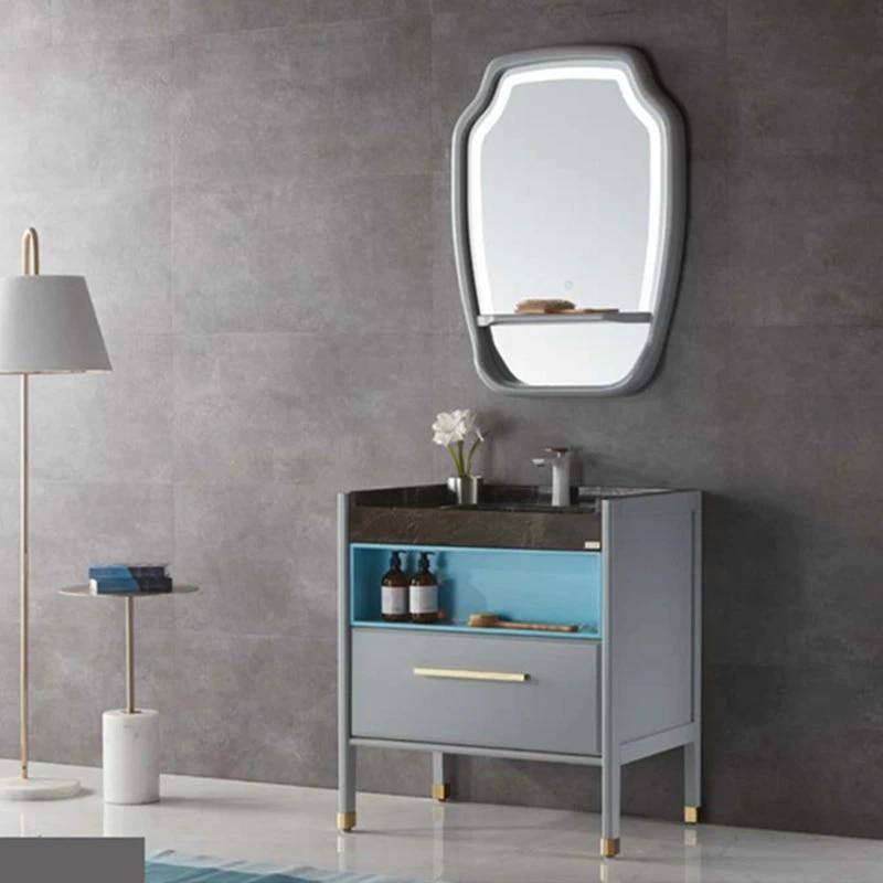 Modern Bathroom Vanity Designs Led Mirror Cabinet Marble Top Bathroom Cabinet Bathroom Vanitybathroom Furniture Vanities Aliexpress