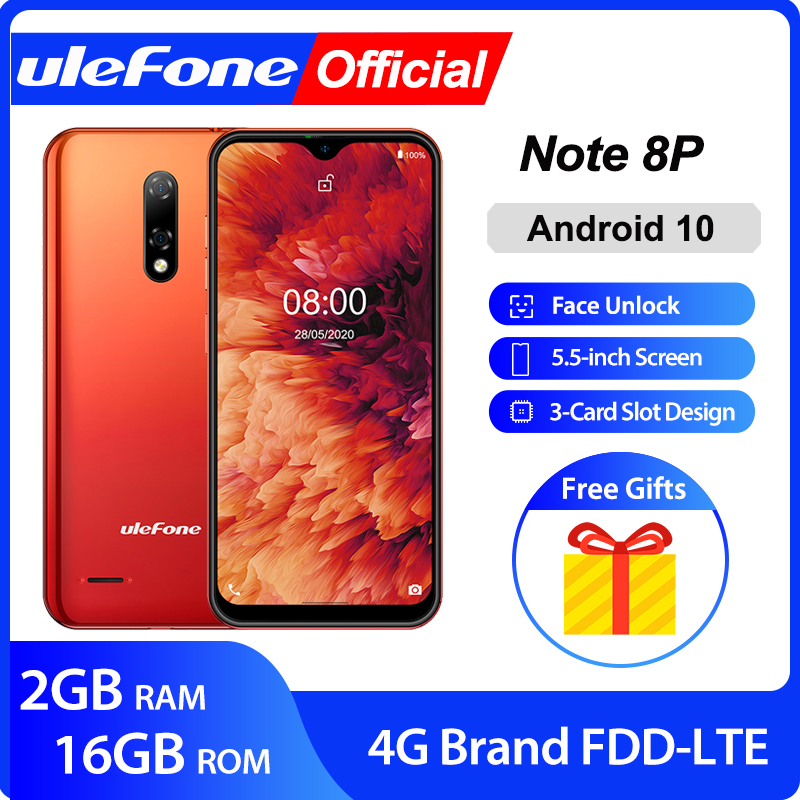 Ulefone Note 8P Smartphone Android 10  4G Celular Phone  Waterdrop Screen Quad Core 2GB+16GB  5.5 inch 8MP Camera|Cellphones|   - AliExpress