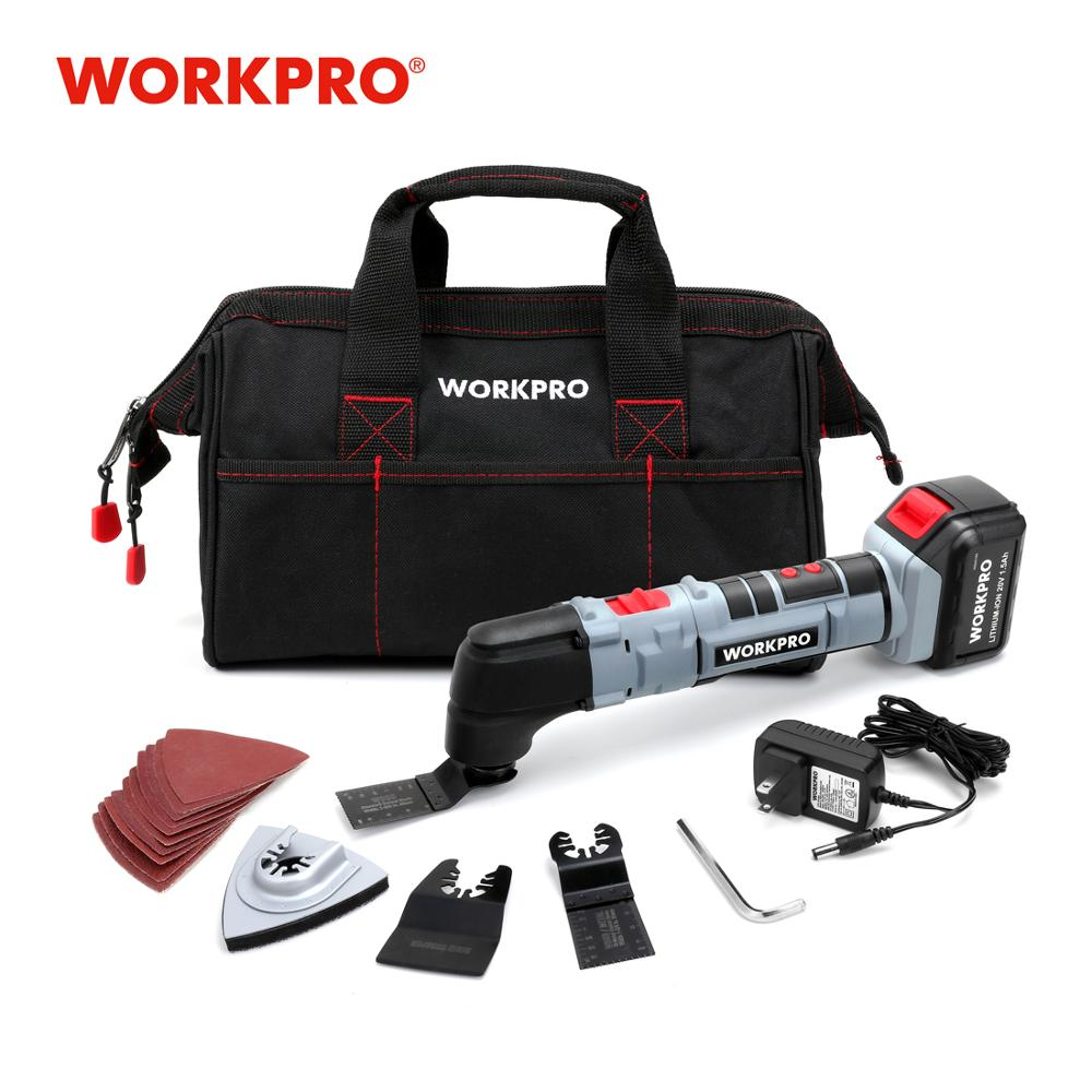 WORKPRO Power Oscillating Tools Electric Trimmer Saws Home DIY Lithium-ion Rechargeable Oscillating Multi Tools 18V 20V
