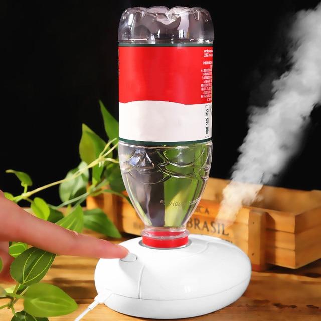 Humidificateur dair USB puissance porte-bouteille Timing Anti-burnout LED veilleuse arôme diffuseur brumisateur maison bureau voiture humidificateur