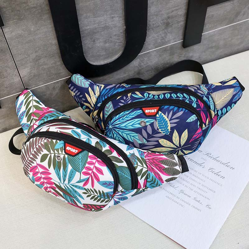 New Waist Bag Women Chest Bag For Men Nylon Printing Hip Bag Unisex High Capacity Hip Hop Banana Bag Shoulder Kidney Bags
