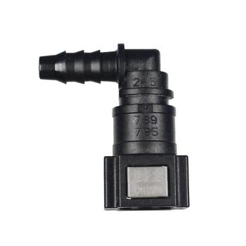 Szybkozłącze wąż paliwowy do systemu dostarczania paliwa lub wąż paliwowy lub złącze węża ogrodowego tanie i dobre opinie AlwayTec Zbiorniki paliwa 10kg Fuel hose quick connector 4 5cm 1995-2015 Iso9001 PA12 ELBOW (90DEGREE) ID6 PA 6 0*8 0mm or 5 16