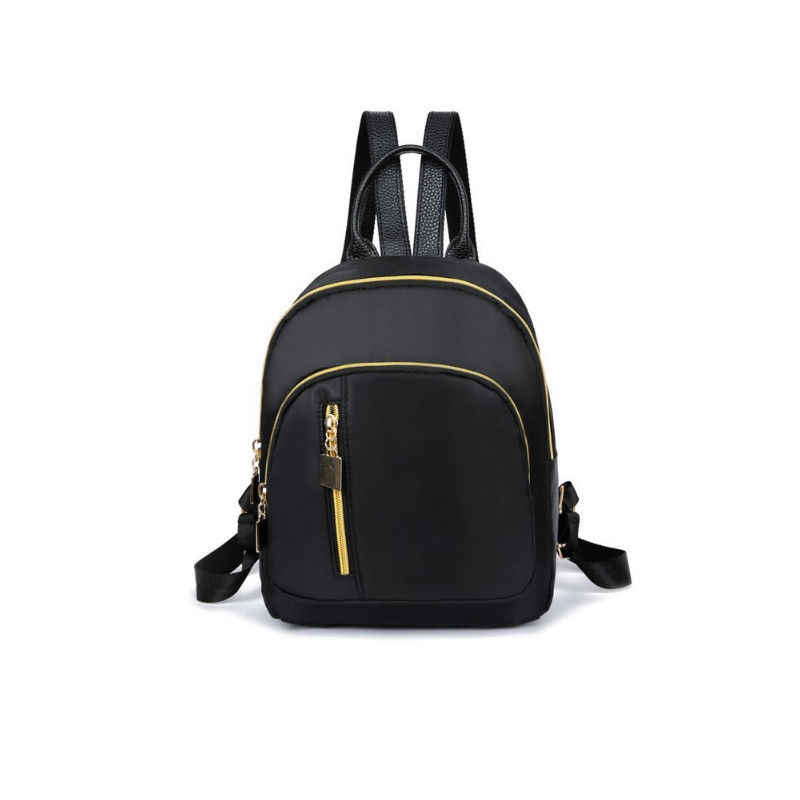 Local Stock Casual Oxford Backpack Women Black Waterproof Nylon School Bags for Teenage Girls High Quality Travel Tote Backpack