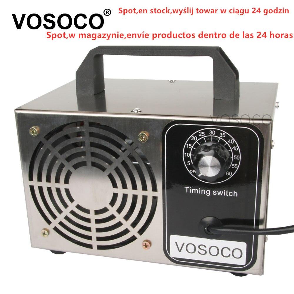 Ozone Generator 28g/h 24g/h 10g/h Portable Ozonizer Air Water Purifier Sterilizer Treatment Ozone Addition To Formaldehyde
