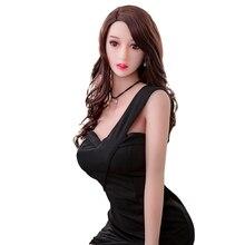 158 سنتيمتر #995 دمية جنسية للكبار الفم المهبل الشرج الحب دمية جميلة النساء كامل TPE مع الهيكل العظمي رجل لعبة الجنس